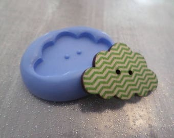 New! Mold cloud 3cm / 2cm for your creations and clay button