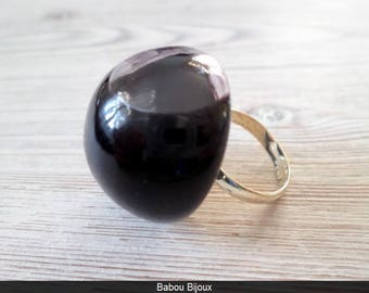 RING GLASS FILLED