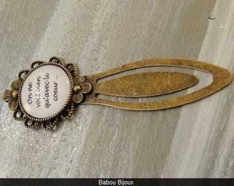 Novelty bookmark! Personalized greeting! Bronze