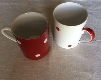 Mugs porcelaine pour le thé, le chocolat chaud ou la tisane