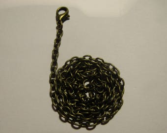 bronze colored chain 45cm with lobster clasp