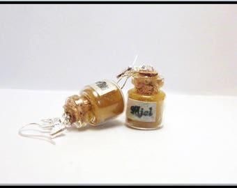 Earrings small honey pot.
