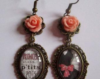 "Dangling earrings ""Star Princess"", bronze"