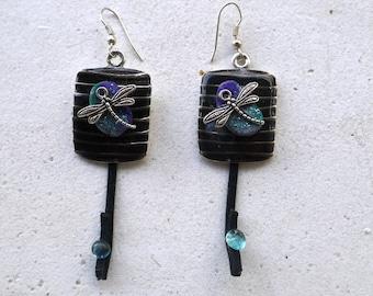 """Earrings boho Chic earrings, ethnic earrings, """"dragonflies"""", gift idea"""