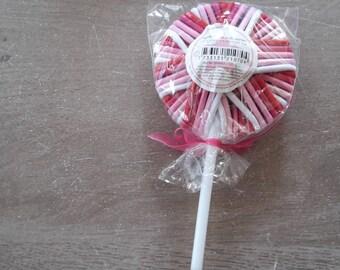 Lovely pink lollipop elastics