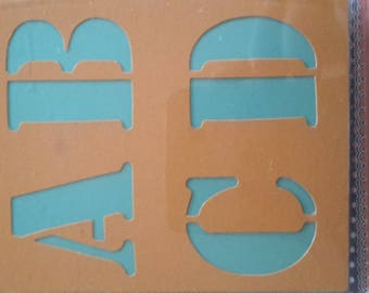 Stencils alphabet and numbers