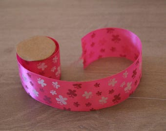 Pink Ribbon with butterfly 1 meter