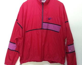 Vintage 90s Half Zip Nike Windbreaker Jacket Hip Hop Size L