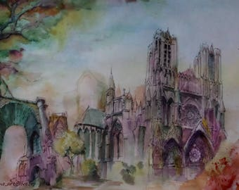 Painting of the city of Reims, revisited.