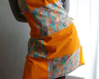 Apron for women in shades of Orange