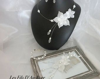 Wedding LOUCYA 4 pieces in White Pearl set