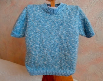 Sweater girl 3-4 years blue short sleeve