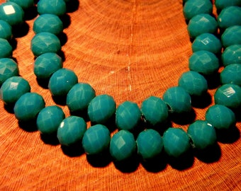 "20 faceted glass - beads 6 mm - way ""jade"" - green - 1 PG123"