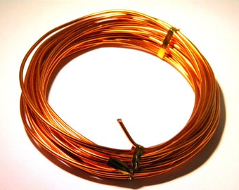 6 meters of aluminum wire in 2.0 mm-copper dark wire metal - wire - FF 2.0 MM - 1