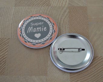 Badge mother grandmother / Grandma in size 50 mm