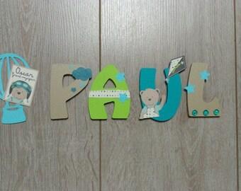 """Kids personalized """"oscar & Lazarus"""" wooden door plaque"""