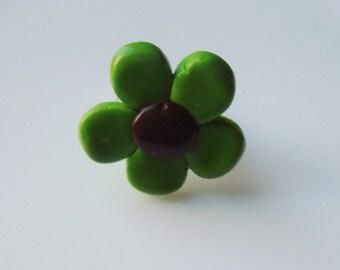 Green Flower ring