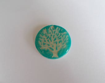 """tree of life"" pendant for creating polymer clay and resin"