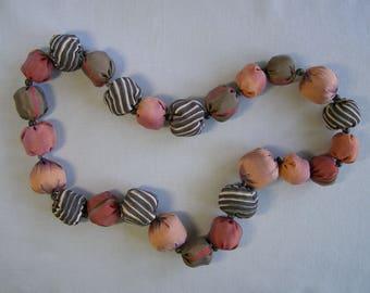 fiber art beaded necklace