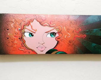 Custom Painted Merida inspired skateboard deck