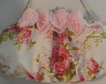 handbag shabby romantic floral fabric