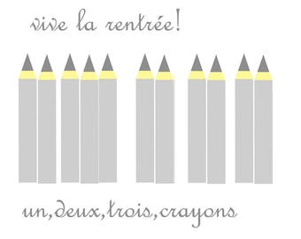 fabric back to school pencils