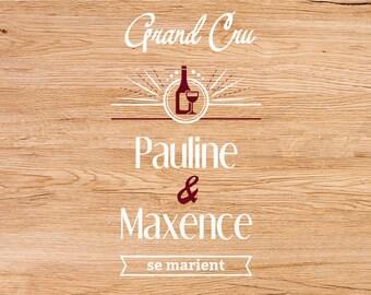 Wine themed wedding invitation