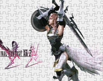 Final Fantasy XIII-2 Lightning Clair Ferron 3 A4 Puzzle - 120 Pieces