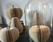 Pomme découpée dans livre, book sculpture, book art