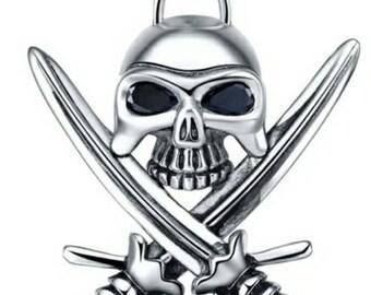 Men's Sterling silver skull pendant