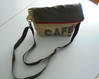 """coffee brasil"" burlap canvas tote bag"