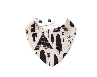 Bib bandana teepees and Arrows 0/24 months