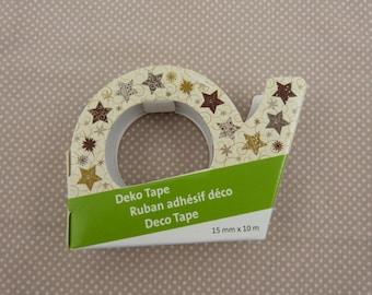 Rouleau de masking tape Noel  : étoiles