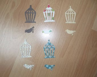 Set of 5 small birdcages for your scrapbooking creations.