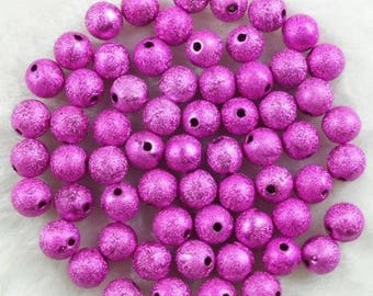 1 lot of 500 pink size 4 mm Stardust gold beads