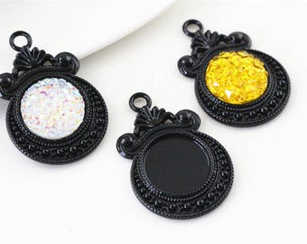 12mm / 10 12 mm cabochon pendants