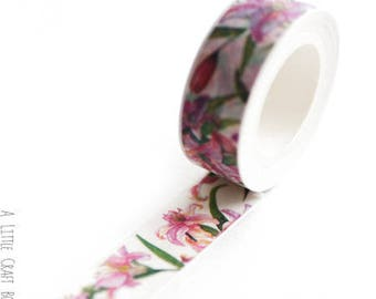 1 roll of washi tape - lilies