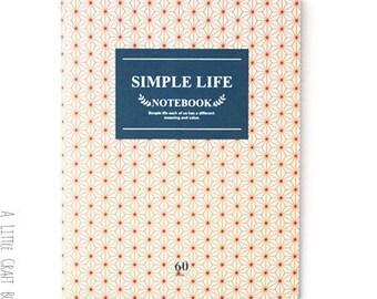 "1 note pad ""simple life"" - geometric flowers"