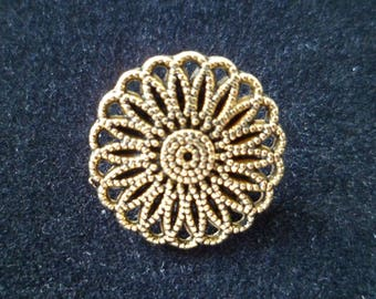 2 buttons for jackets, coats, Jeans, 17 mm flower