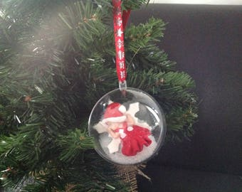 Ball personalized baby girl Christmas tree...