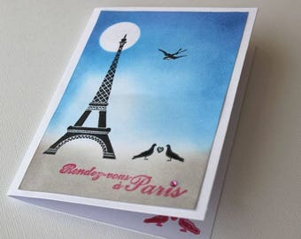 Romantic Paris modern card