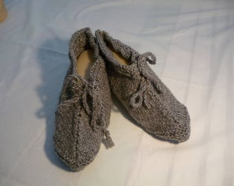 shoes T40/41, bed or inside - gray - ideal for chilly (her).