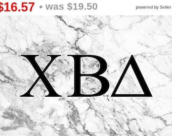 15% OFF! Xi Beta Delta Sorority White Marble 3' x 5' Flag
