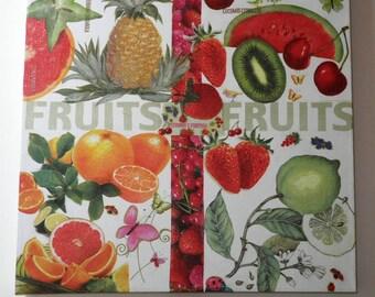 Canvas decorative fruit vitamin