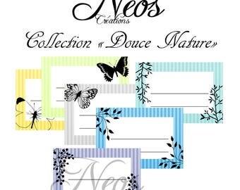 Sweet Nature printable digital labels