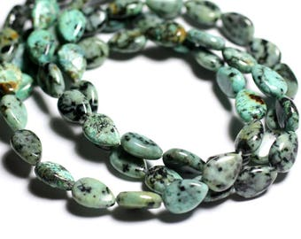 4pc - stone beads - African Turquoise drops 12x8mm - 4558550092953