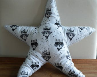 Star fabric Oeko Tex certified cotton and fabric blanket