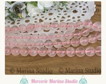 10  perles quartz rose naturelles 8mm quarts rose 6mm quartz rose 4mm perles pierre précieuse qualité AAA