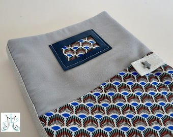 Health Book duo - blue, clasp and label holder blue leather Africa