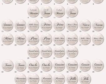 Wedding Chic badge / Elegant - individually